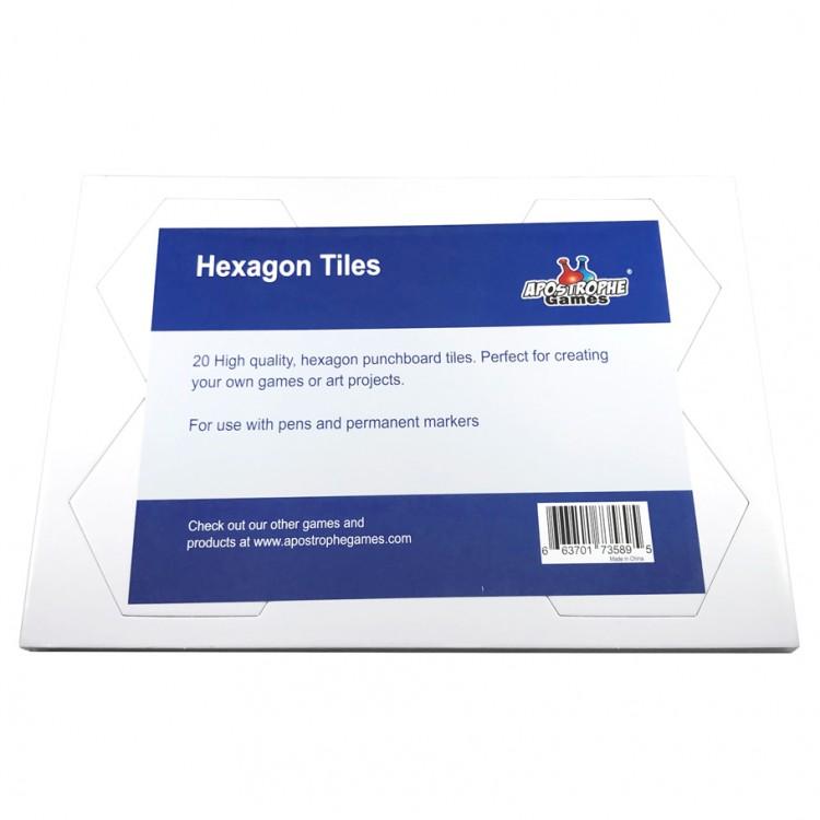 Blank: Hexagon Tiles 79 x 93mm (20)