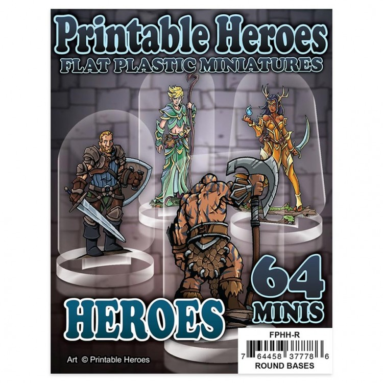 Flat Plastic Minis: Print: Heroes Pack