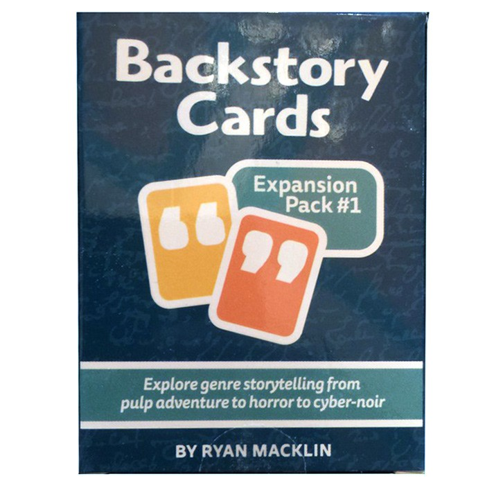 Backstory Cards: Expansion #1