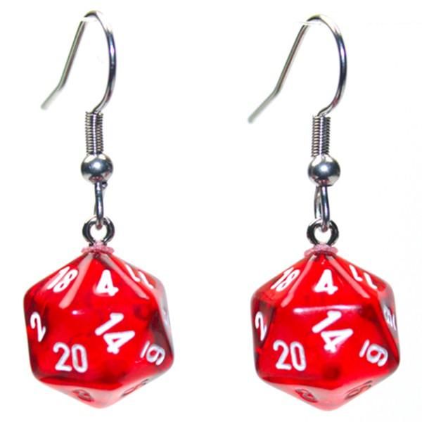 Hook Earrings TR RD Mini d20
