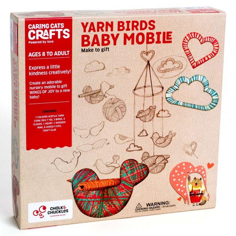 Yarn Birds Baby Mobile