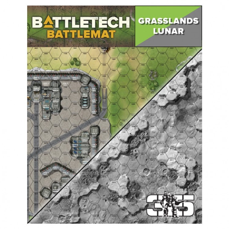 Battletech Battle Mat: Grasslands Lunar