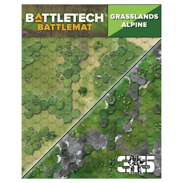 Battletech Battle Mat: Grasslands Alpine