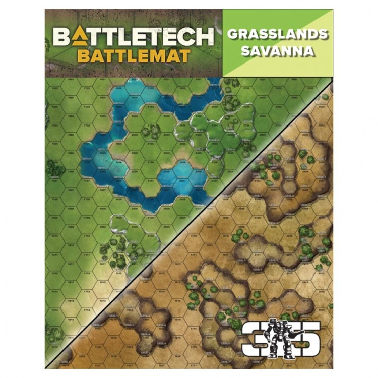 Battletech Battle Mat: Grasslands Savanna