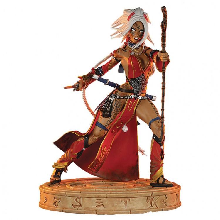"""Pathfinder Seoni """"Battle Ready"""" Statue"""