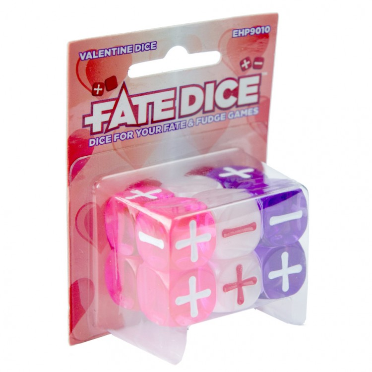 Fate Core Dice: Valentine Dice