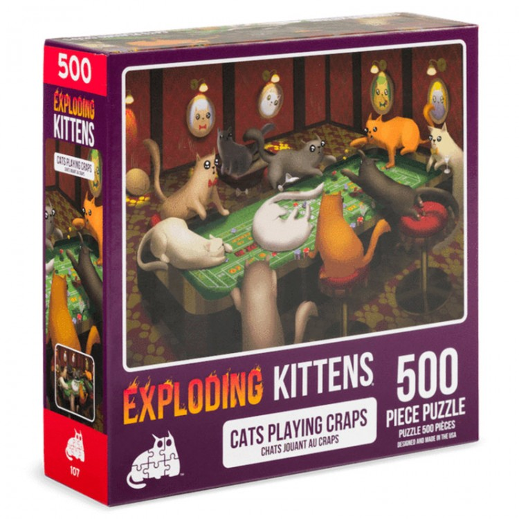 Puzzle: Cats Playing Craps 500pc