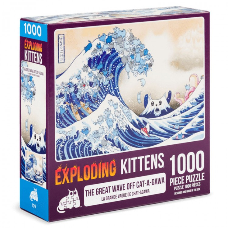 Puzzle: Great Wave of Cat-a-gawa 500pc
