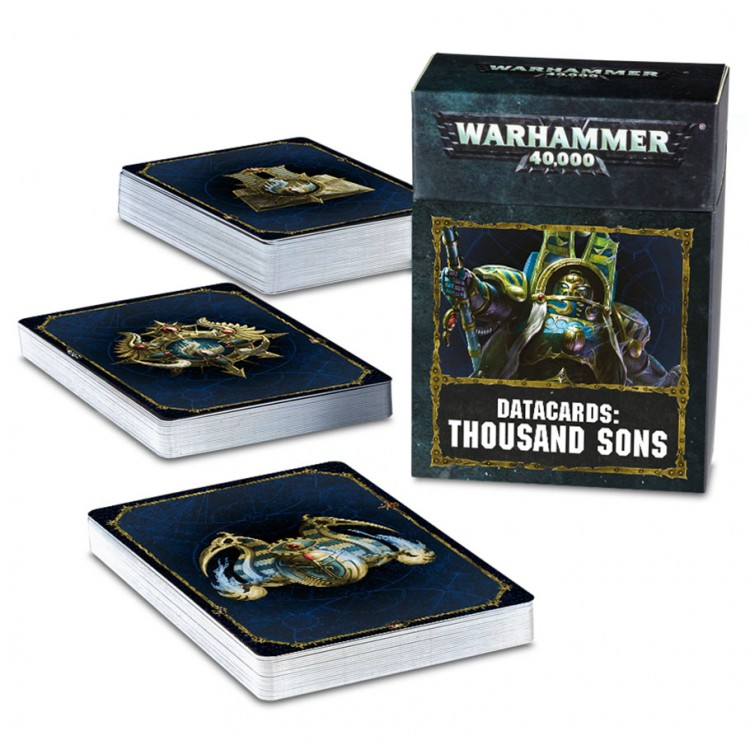 43-21-60 40K: Thousand Sons: Data Cards