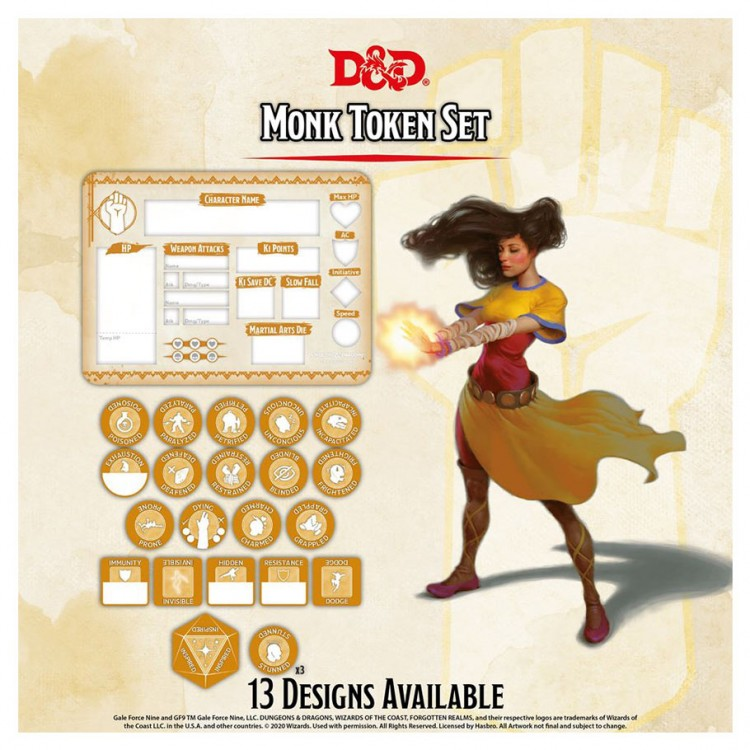 D&D: Character Tokens: Monk
