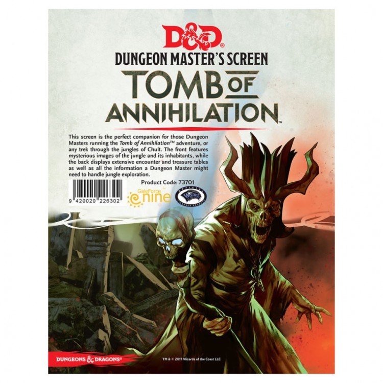 D&D: Tomb of Annihilation: DM Screen