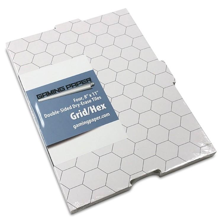 "GP: Tiles: Grid / Hex 8""x11"" (4)"