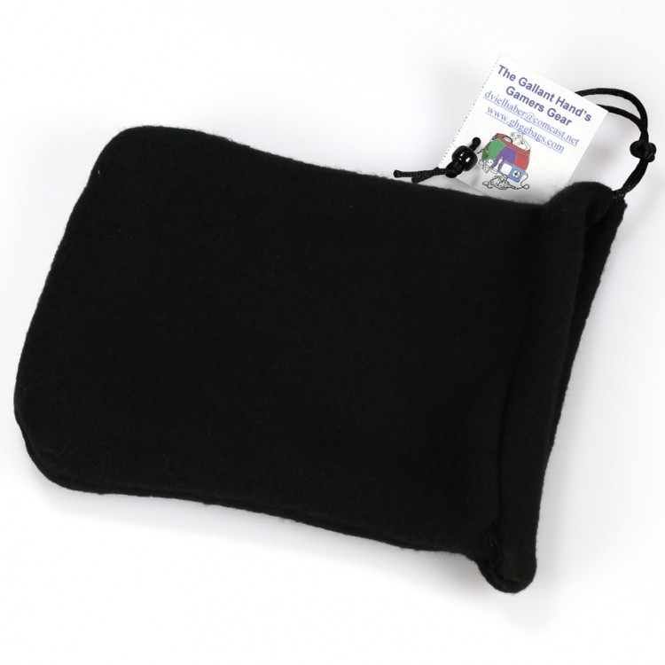 Dice Bag: Black 2pkt Fleece