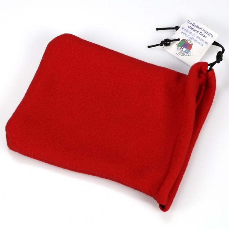 Fleece Two-Pocket Dice Bag - Red