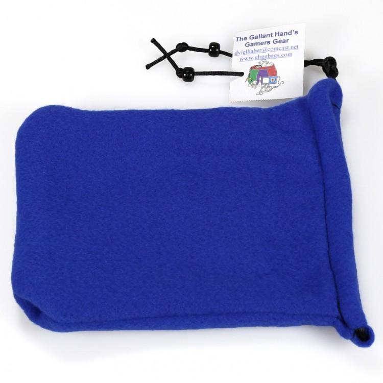 Fleece Two-Pocket Dice Bag/Royal Blue