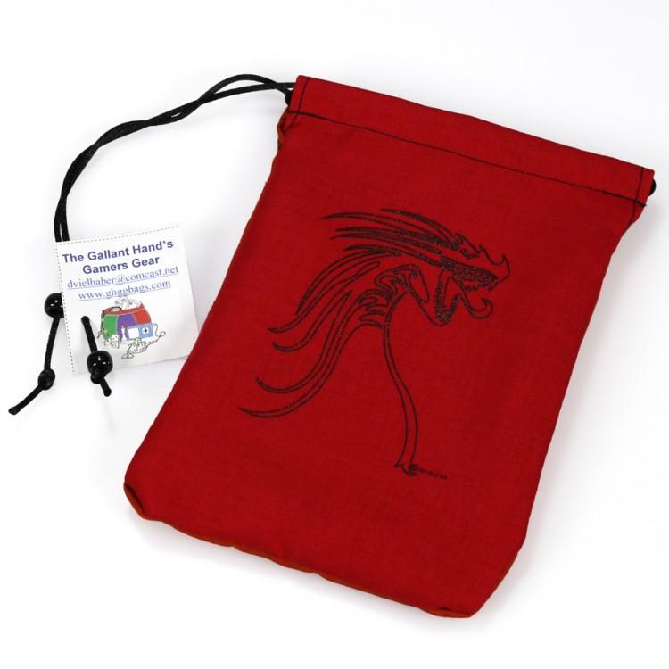 Dice Bag: Black Tribal Dragon