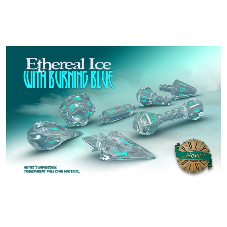 Dice: Wizard Ethereal Ice/Blue