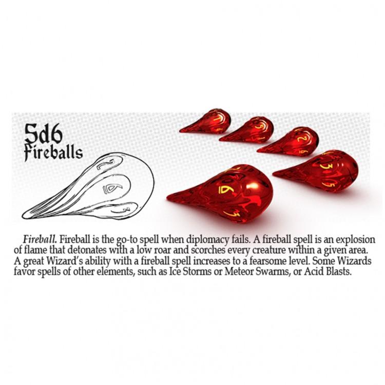 Dice: 5d6 Fireballs