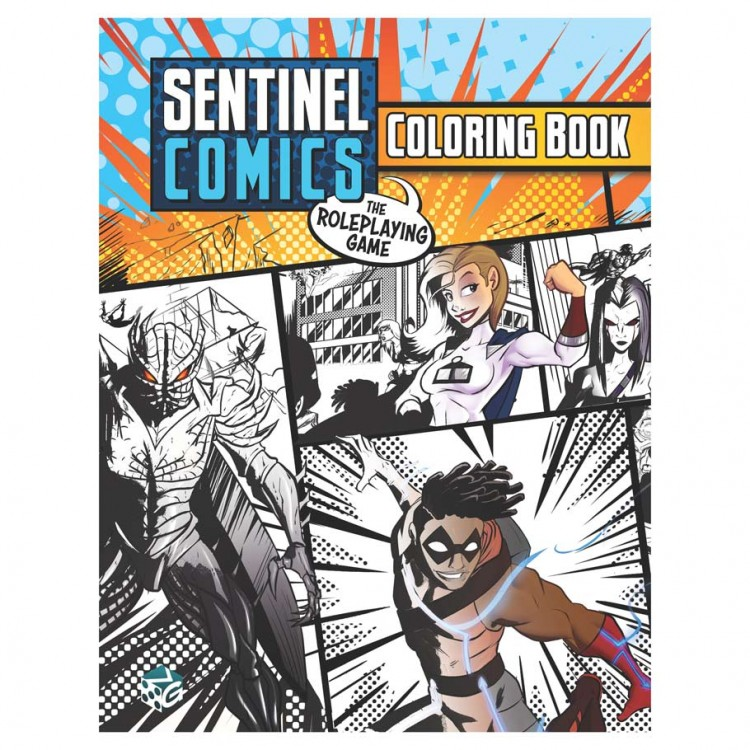 Sentinel Comics RPG: Coloring Book