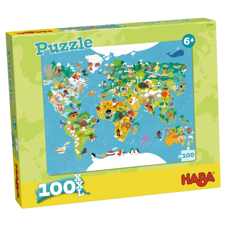 Puzzle: World Map 100 Pieces