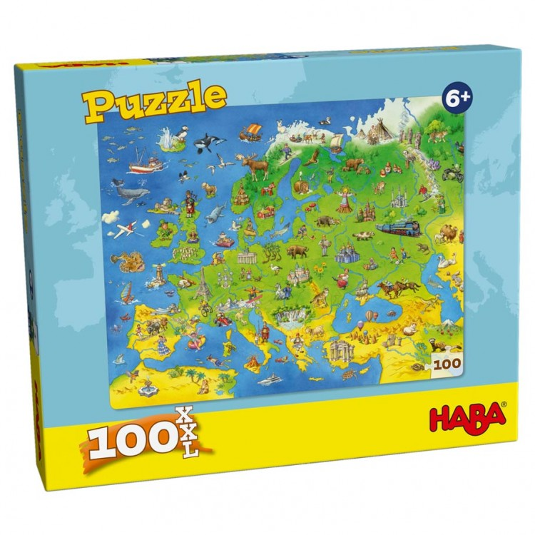 Puzzle: Europe Map 100 Pieces