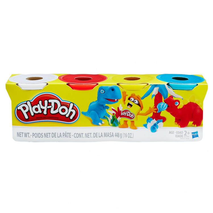 PD:Primary Color 4oz Ast(RD,WH,YE,BU)(8)