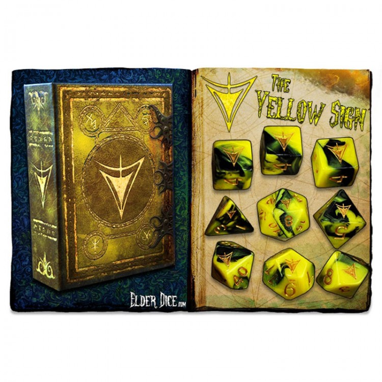 Elder Dice 9-Set: Yellow Sign