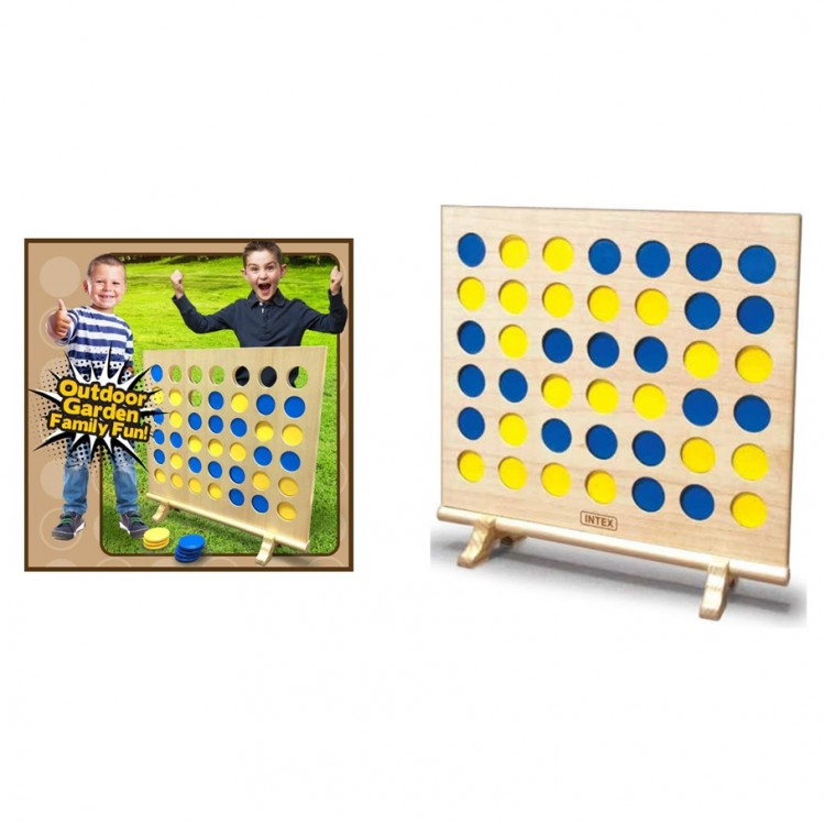 Giant Wooden 4-in-a-Row XL