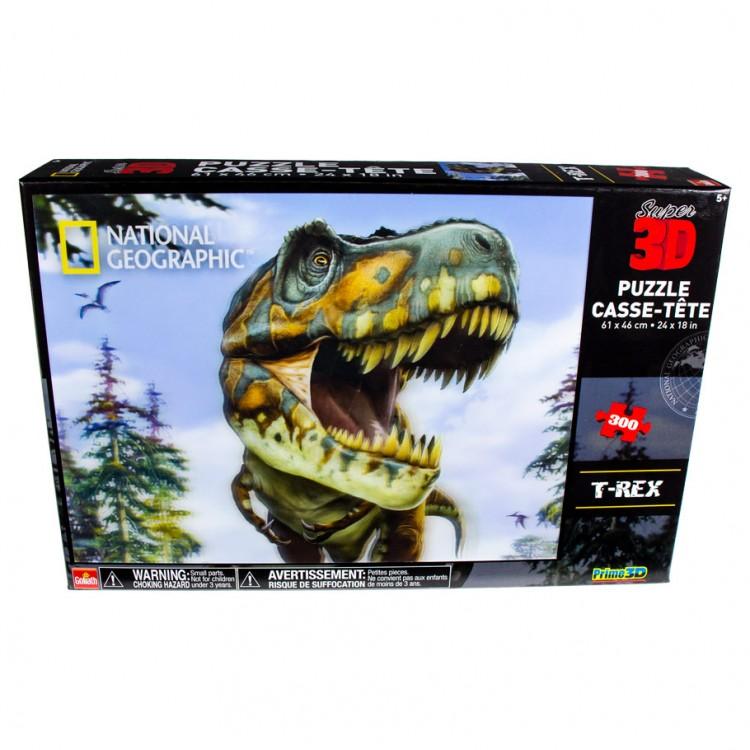 Puzzle: 3D: Nat Geo Kids: T-Rex 300pc