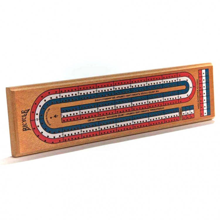 Cribbage Board 3 Track Color Coded