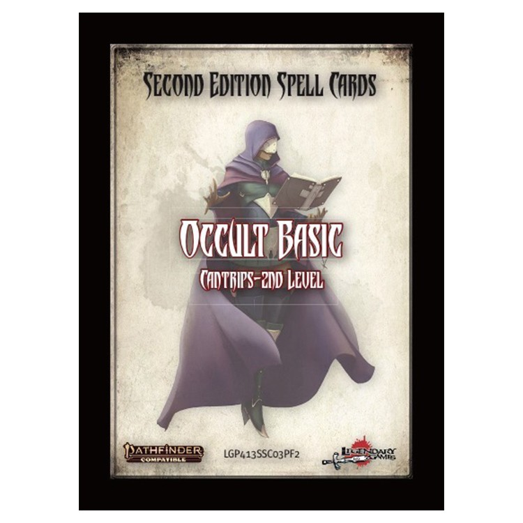 PF2E: Spell Cards: Occult Basic