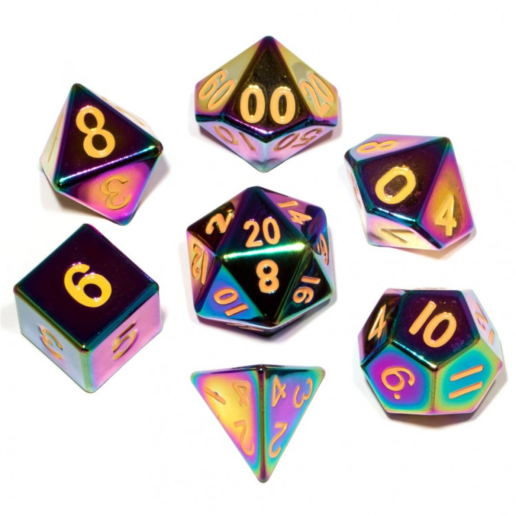 7-set: Flame Torched Rainbow Metal