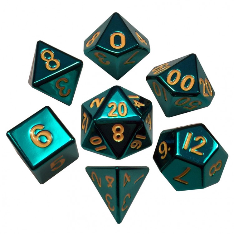 7-set: Turquoise Painted Metal