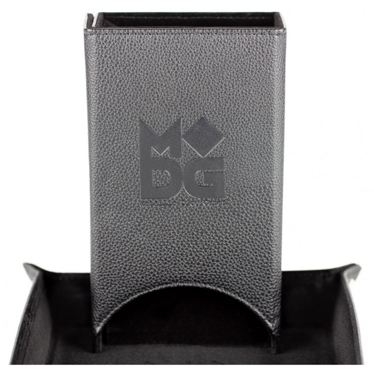 Dice Tower: Fold Up Leather BK