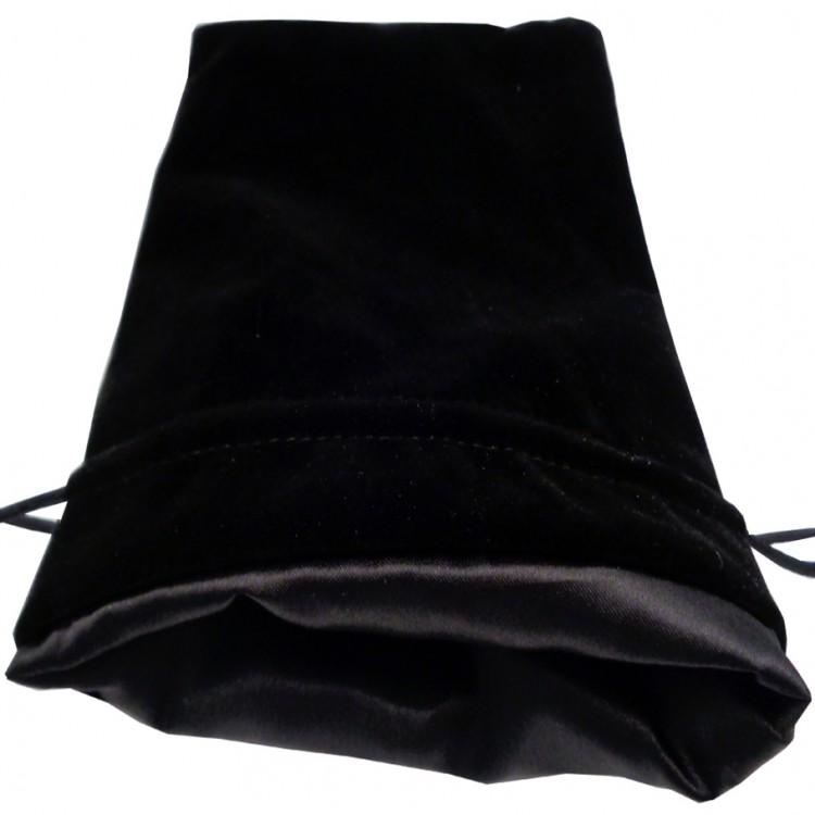 Dice Bag: 6x8: Velvet/Satin: BK
