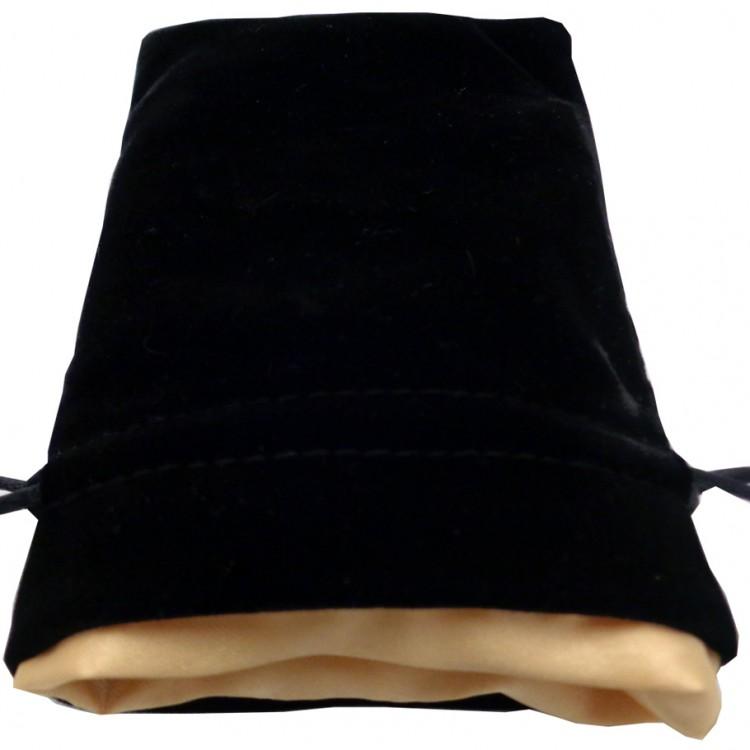 Dice Bag: 4x6: Velvet/Satin: BKgd