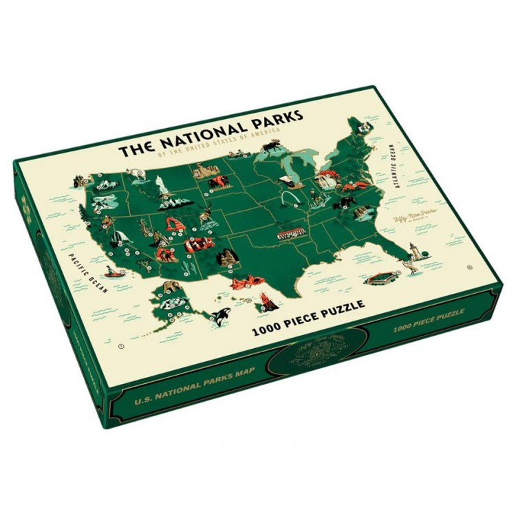 Puzzle: U.S. National Parks Map 1000pc