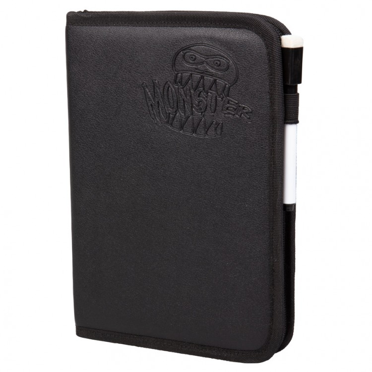 Binder: 4pkt: Monster: Deluxe Zipper BK