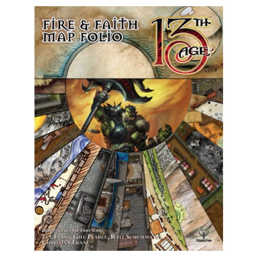 13th Age: Fire & Faith Map Folio (Supp.)