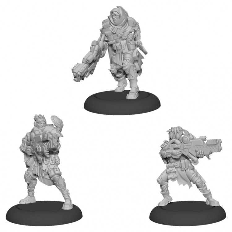 Warcaster: MW: Ranger Fire Team (metal)