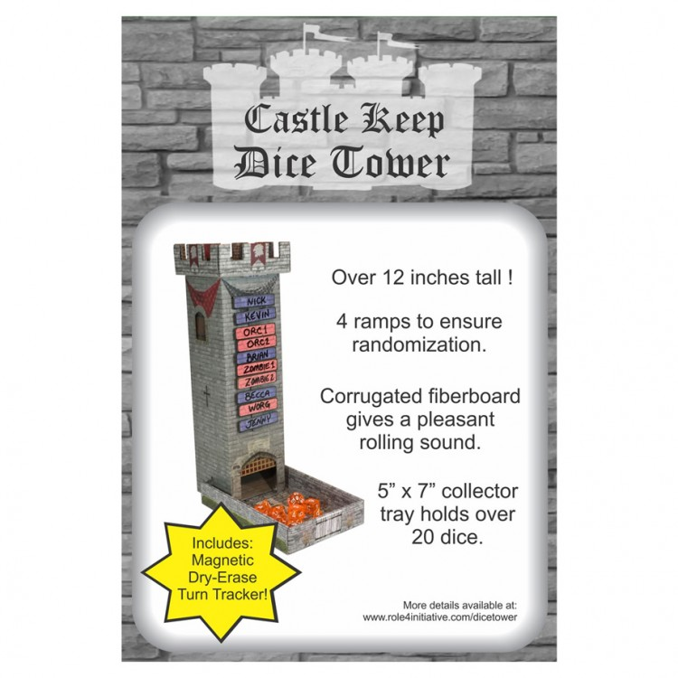 Caslte Keep Dice Tower w/ Magnetic TT
