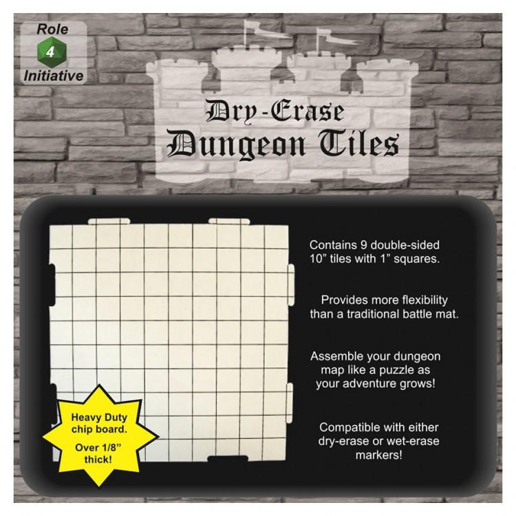 """10"""" Dry Erase Interlk Dungeon Tiles (9)"""