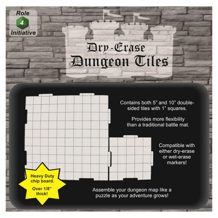 "Combo Pack 10""/5"" Dry Erase Dung. Tiles"