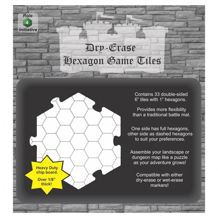 Dry-Erase Hexagon Game Tiles