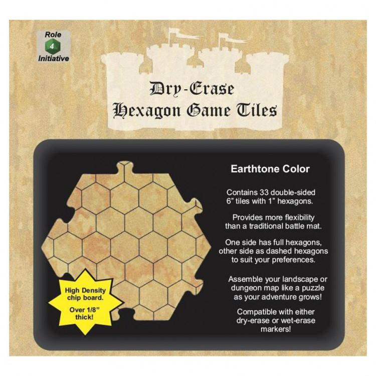 "Dungeon Tiles: Earthtone: 6"" Hex (33)"
