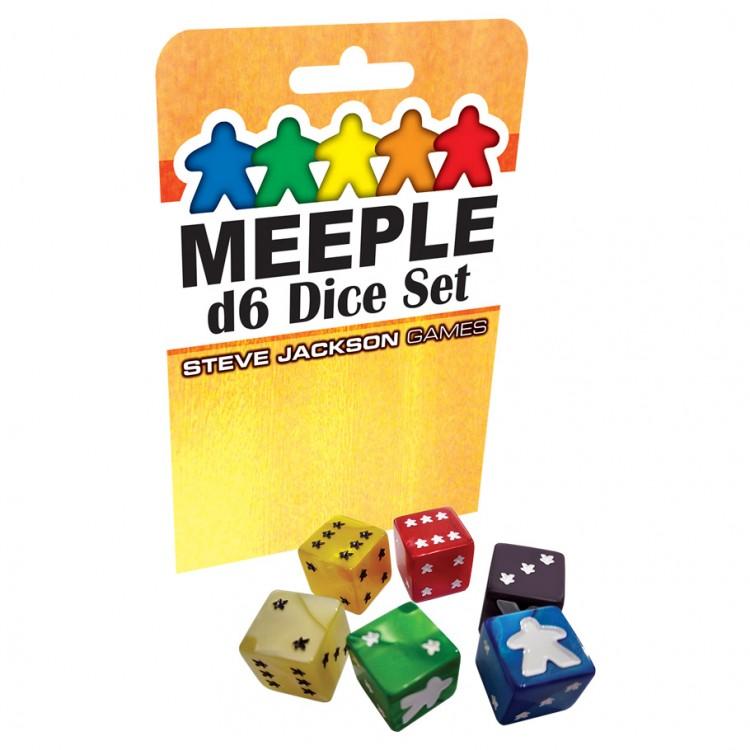 Meeple d6 BK Dice Set