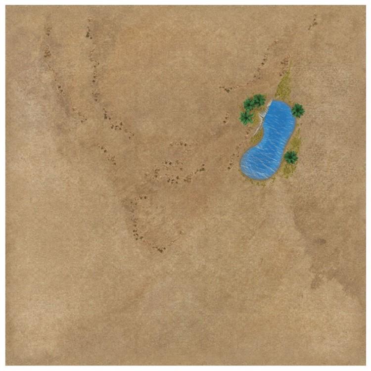 """TANKS: Desert Game Mat 36"""" x 36"""""""