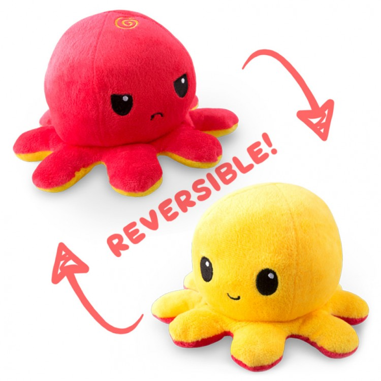 Reversible Octopus Mini Plush: RD & YE