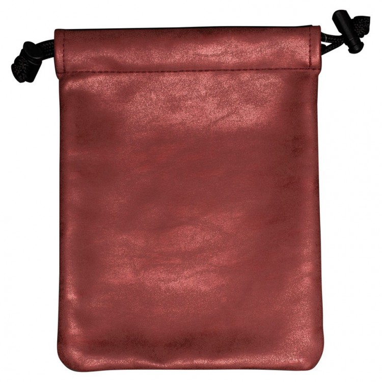 Dice Bag: Suede: Treasure Nest: Ruby