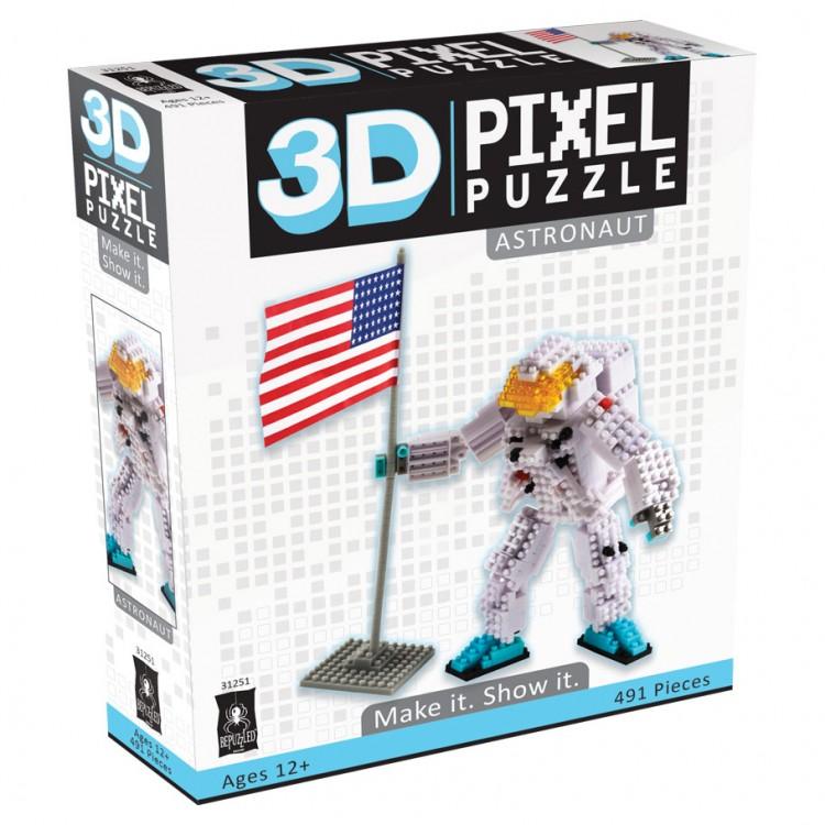 Puzzle 3D Pixel Astronaut